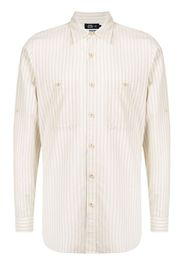 Man On The Boon. pocketed striped shirt - Toni neutri