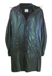 iridescent lightweight raincoat