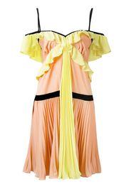 crepe georgette pleated dress