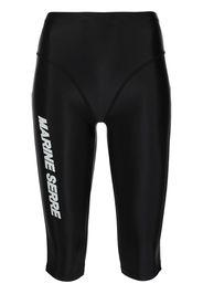 Marine Serre logo-print training shorts - Nero