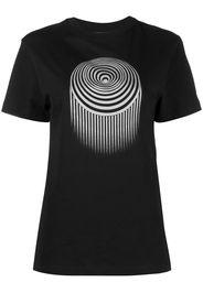 Marine Serre graphic print short-sleeved T-shirt - Nero