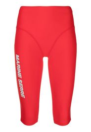 Marine Serre Shorts sportivi - Rosso