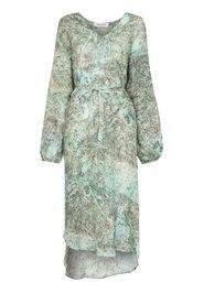 Märta Larsson floral-print midi dress - Verde