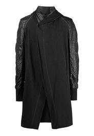 Masnada panelled wrap coat - Grigio