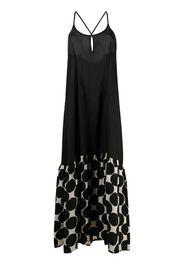 Masnada Vestito lungo con stampa - Nero