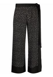 Masnada polka dot cropped trousers - Nero
