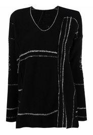 Masnada distressed knit jumper - Nero