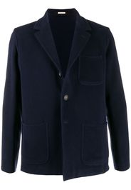 single-breasted blazer coat