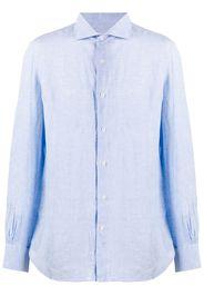 French collar linen shirt