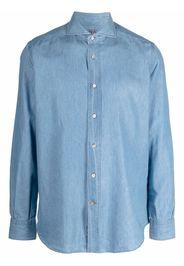 Mazzarelli Camicia denim - Blu