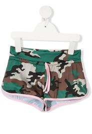 Mc2 Saint Barth Kids camouflage swim shorts - Verde