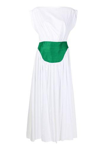 MEHTAP ELAIDI Abito lungo con design color-block - Bianco