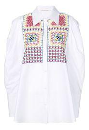 Camicia oversize ricamata