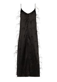 long ostrich feather camisole top