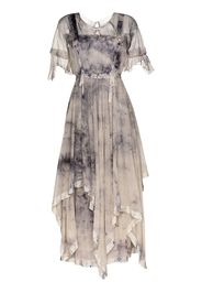 Susanna tie-dye effect cotton maxi dress