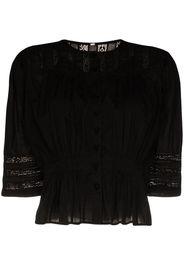 Barton lace panelled blouse