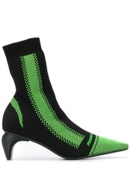 Stivali a calzino con tacco curvo