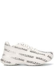 Sneakers Warszawa con stampa