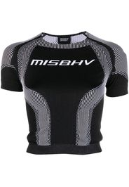 MISBHV T-shirt crop Sport Active - Nero