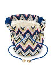 zigzag pattern shoulder bag