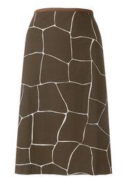 giraffe print straight skirt