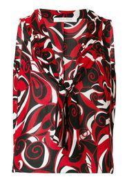 abstract print sleeveless blouse