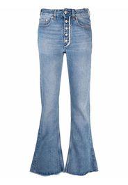 MM6 Maison Margiela high-rise straight leg jeans - Blu