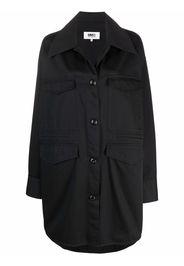 MM6 Maison Margiela collared raincoat - Nero