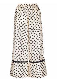 Moncler Genius 1952 cropped polka dot trousers - Toni neutri