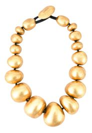 metallic ball necklace
