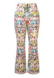 Pantaloni svasati a fiori