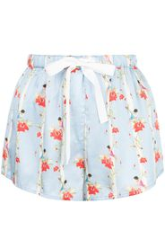 Martine floral-print silk shorts