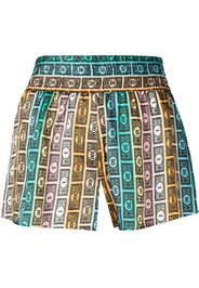 Morgan Lane Corey monopoly money print shorts - Multicolore