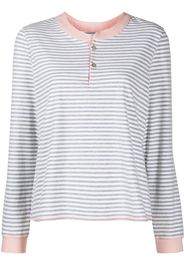 Morgan Lane Kaia striped-print pajama set - Bianco
