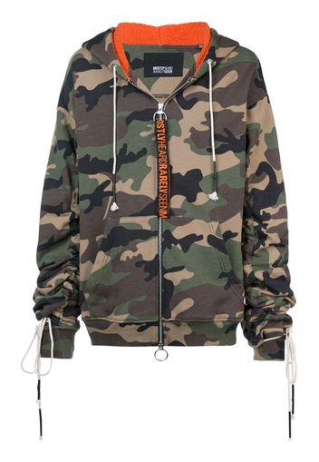 Felpa camouflage con zip