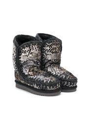 Eskimo snakeskin-print boots