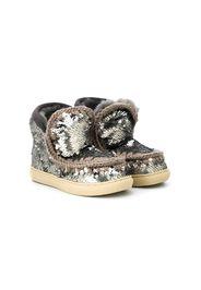 sequin embellished eskimo boots