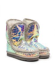iridiscent eskimo boots