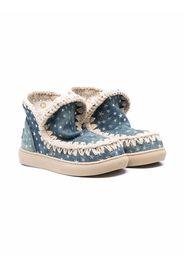 Mou Kids Eskimo star-embellished boots - Blu