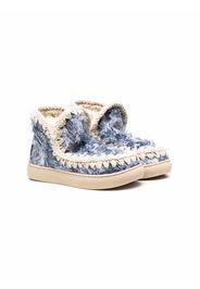 Mou Kids Stivali Eskimo con effetto vissuto - Blu