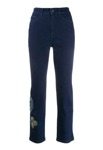 Pantaloni skinny con ricamo