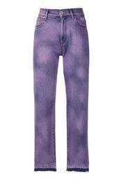 Jeans con effetto schiarito