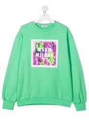Msgm Kids Felpa con stampa - Verde