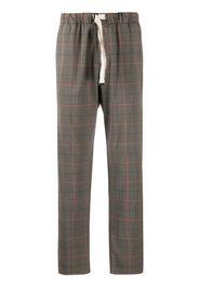Pantaloni affusolati a quadri