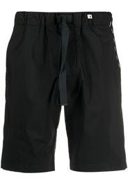 Myths contrast stitching track shorts - Nero