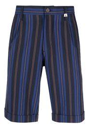 Myths striped bermuda shorts - Blu