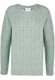 argyle-knit jumper