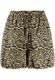 Nanushka Shorts con stampa Louisa - Nero