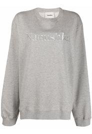 Nanushka logo-embroidered sweatshirt - Grigio
