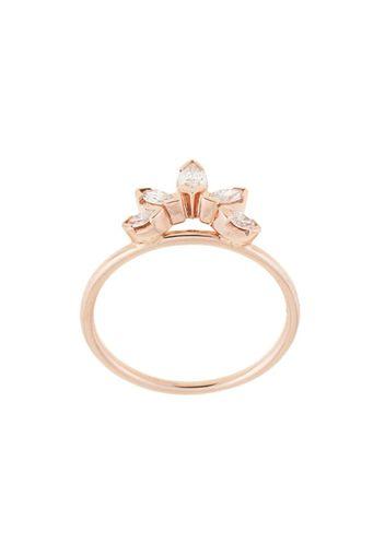 Anello Sun in oro rosa 14kt con diamante